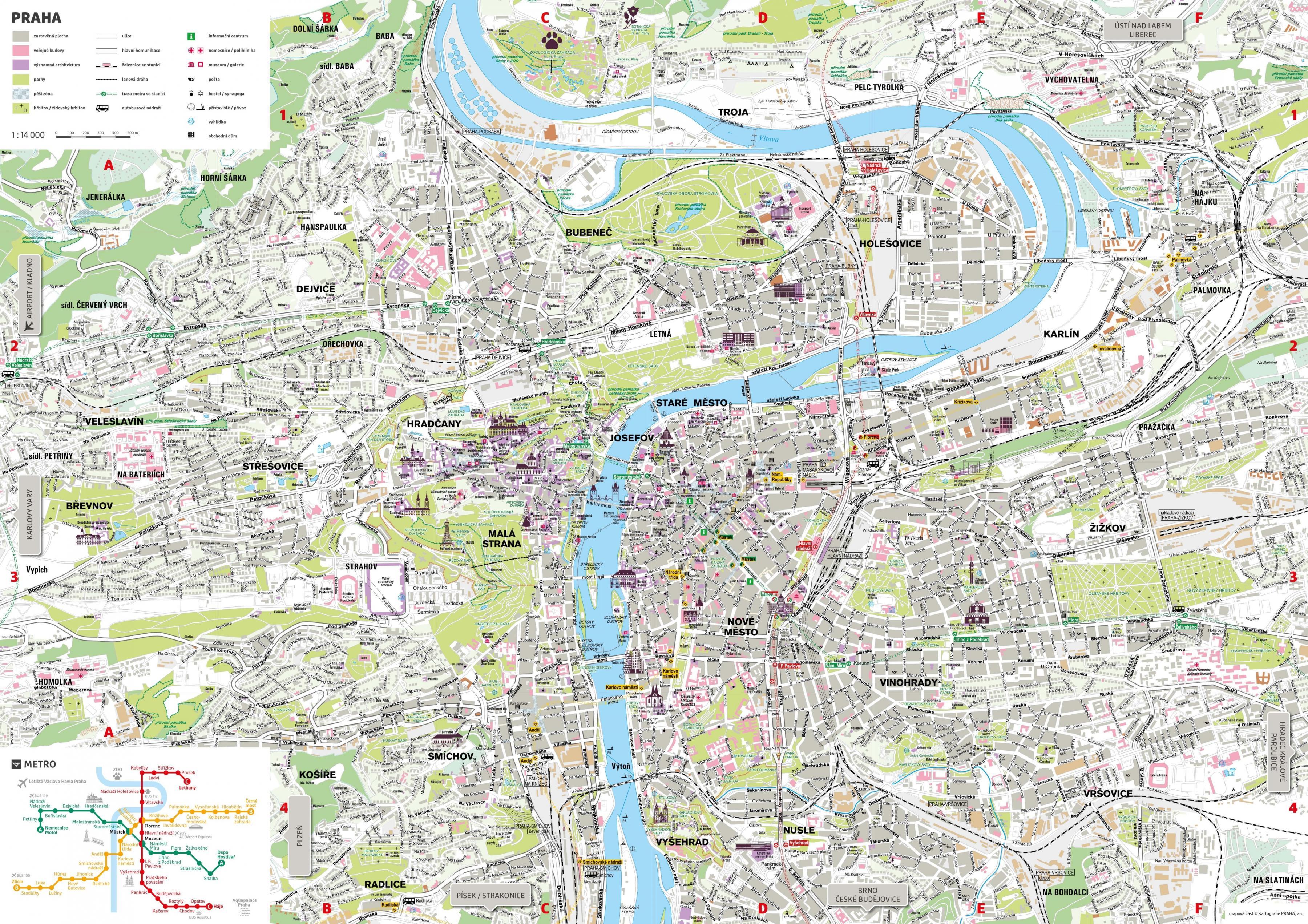 Cartina Del Belgio Da Stampare.Mappe Di Praga Mappe Dei Trasporti E Mappe Turistiche Di Praga In Cecenia
